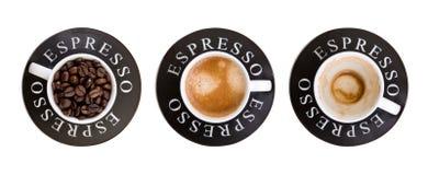 Tazze del caffè espresso Immagine Stock