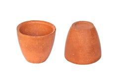 Tazze dell'argilla Fotografie Stock Libere da Diritti