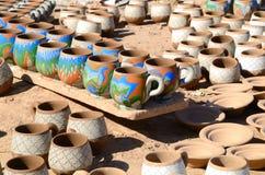 Tazze dell'argilla Fotografie Stock