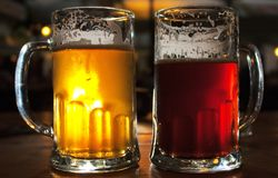 Tazze di birra Fotografie Stock