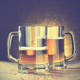 Tazze di birra fotografia stock libera da diritti