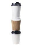 Tazze di caffè asportabile Fotografie Stock Libere da Diritti