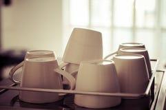 Tazze di caffè calde Fotografia Stock