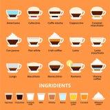 Tazze di caffè caldo Immagine Stock