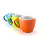 Tazze di caffè colorate Fotografie Stock Libere da Diritti