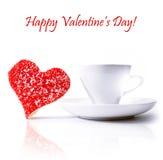 Tazze di caffè con l'innamorato Fotografia Stock