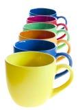 Tazze di caffè di colore Immagine Stock