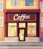 Tazze di caffè e chicchi di caffè freschi intorno Immagini Stock