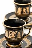 Tazze di caffè greche Immagini Stock Libere da Diritti