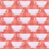 Tazze di caffè macchiato Reticolo senza giunte di vettore Fotografia Stock Libera da Diritti