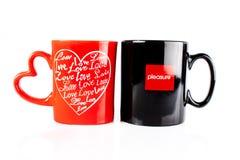 tazze di caffè piacevoli Fotografia Stock Libera da Diritti