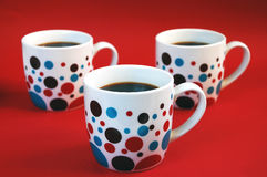 Tazze di caffè variopinte Immagini Stock Libere da Diritti