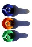 Tazze di colore Fotografie Stock