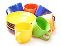 Tazze di colore Fotografia Stock