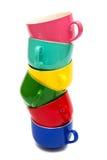 Tazze di colore Fotografie Stock Libere da Diritti