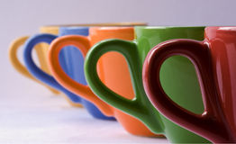 Tazze di Colorfull Fotografie Stock