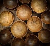 Tazze di legno Fotografia Stock