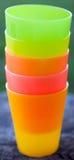 Tazze di plastica Fotografia Stock