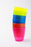 Tazze di plastica variopinte Fotografia Stock Libera da Diritti