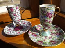 2 tazze di tè Fotografie Stock
