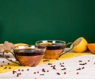 tazze di tè Fotografia Stock