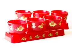 Tazze di tè cinesi Fotografia Stock Libera da Diritti