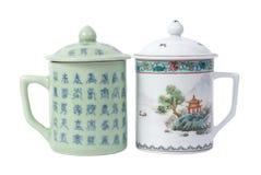 Tazze di tè di Chainese Fotografia Stock