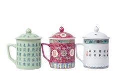 Tazze di tè di Chainese Fotografie Stock