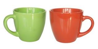 Tazze di tè di colore Fotografia Stock