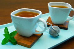 Tazze di tè di erbe Fotografie Stock
