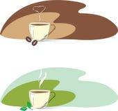 Tazze di tè e di caffè Fotografia Stock