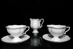 Tazze di tè messe Fotografia Stock