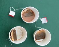 Tazze di tè vuote Fotografie Stock Libere da Diritti