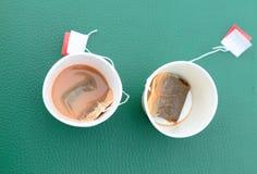 Tazze di tè vuote Fotografia Stock