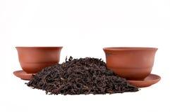 Tazze e tè asciutto Fotografie Stock Libere da Diritti