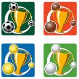 Tazze e trofei di sport Immagine Stock