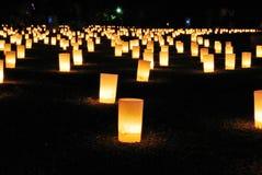 tazze illuminate della candela fotografie stock libere da diritti