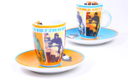 Tazze italiane 1977 del caffè espresso di Roma Fotografie Stock