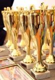 Tazze per i vincitori Immagine Stock