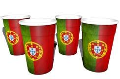 Tazze portoghesi Immagine Stock