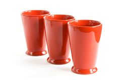 Tazze rosse Fotografia Stock