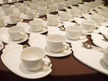 Tazze tè/del caffè macchiato per approvvigionare Fotografia Stock