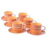 Tazze vuote per tè e il goffee isolate Fotografia Stock Libera da Diritti