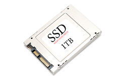 1TB SSD Drive Royalty Free Stock Photo