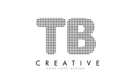 TB T B Letter Logo with Black Dots and Trails. Royalty Free Stock Photos