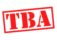 TBA Rubber Stamp. TBA red Rubber Stamp over a white background Royalty Free Stock Photo