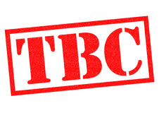 TBC Rubber Stamp. TBC red Rubber Stamp over a white background Royalty Free Stock Photos