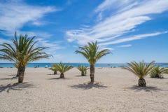 Tbe海滩在卡塔龙尼亚 库存图片