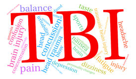 TBI Word Cloud Royalty Free Stock Images