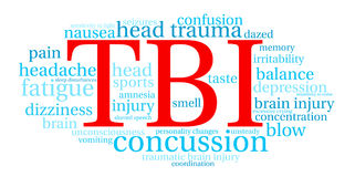 TBI Word Cloud Royalty Free Stock Photography